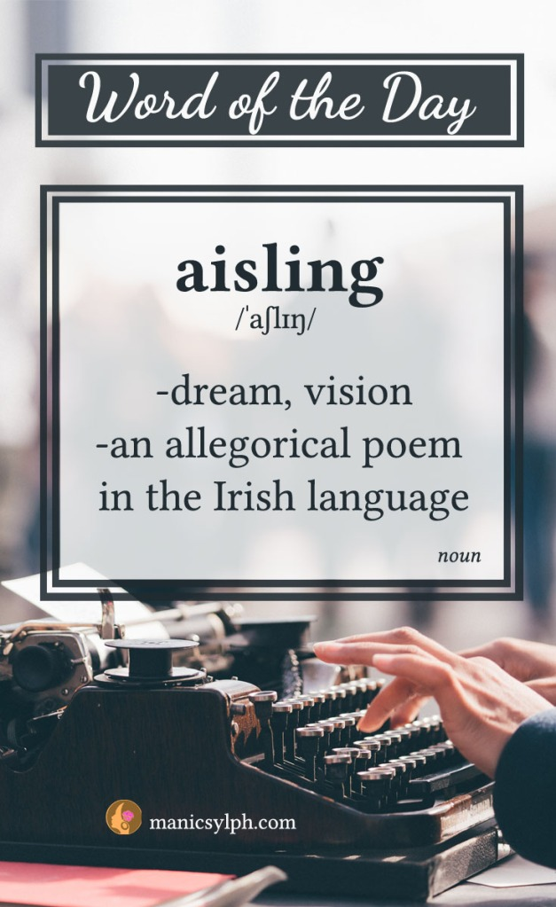 word of the day - aisling