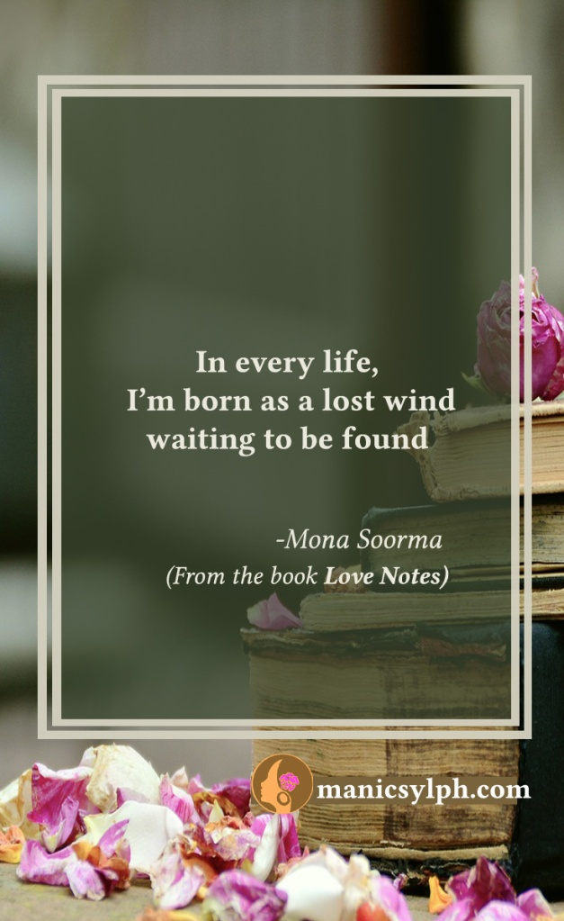 Lost- Quote from the book LOVE NOTES by Mona Soorma