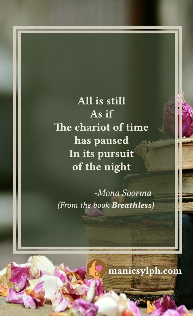 Stillness- Quote from the book BREATHLESS by Mona Soorma