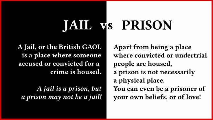 Jail vs Prison