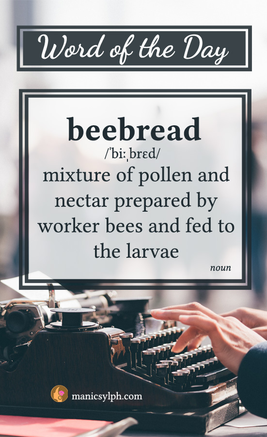 WORD OF THE DAY ~ Beebread