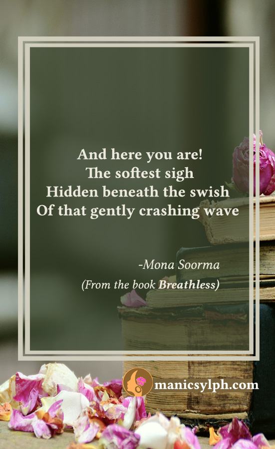 Quote 'I Found You' from the book BREATHLESS by Mona Soorma