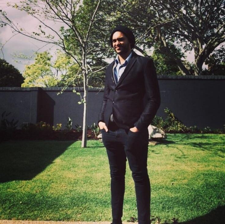 Ismael Mansoor in a garden