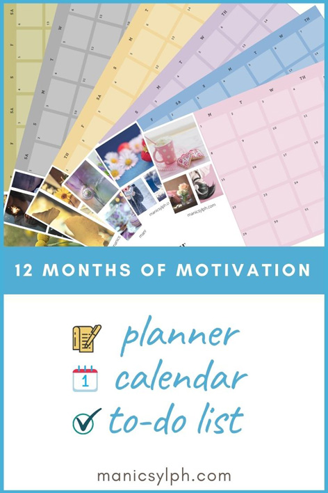 Poster for 12 Months of Motivation Planner