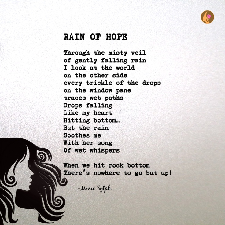 The poem RAIN OF HOPE by Mona Soorma aka Manic Sylph