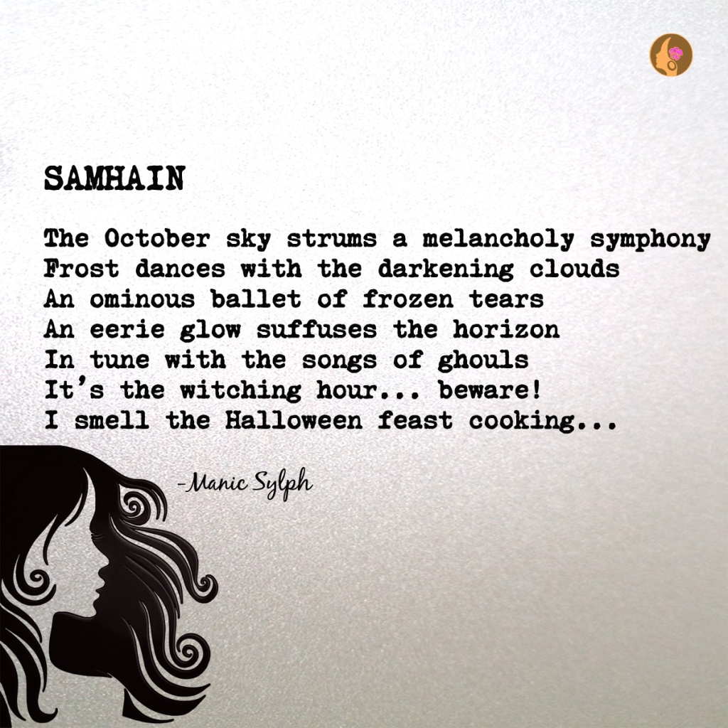 The poem SAMHAIN by Mona Soorma aka Manic Sylph
