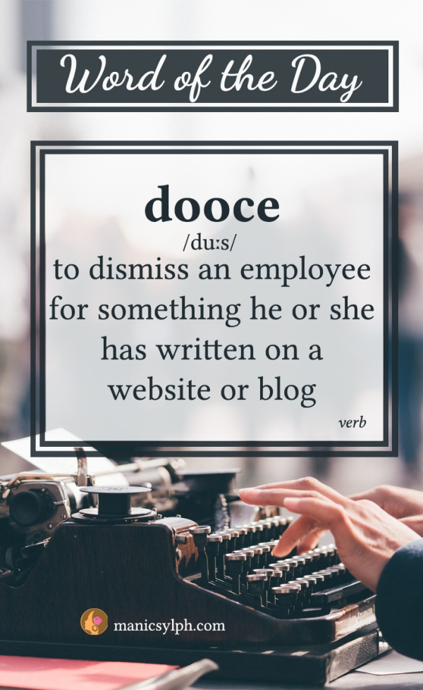 WORD OF THE DAY ~ Dooce