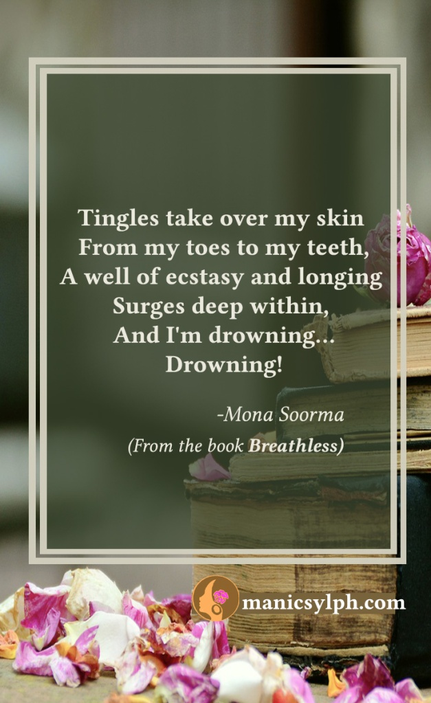 Drowning...- Quote from the book BREATHLESS Mona Soorma
